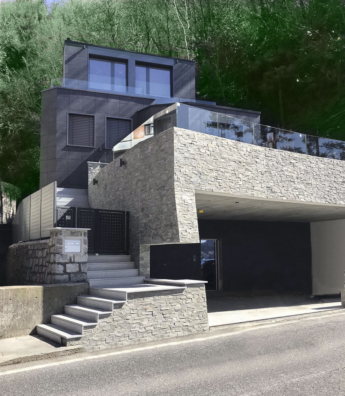 Villa di design a Castagnola con splendida vista lago